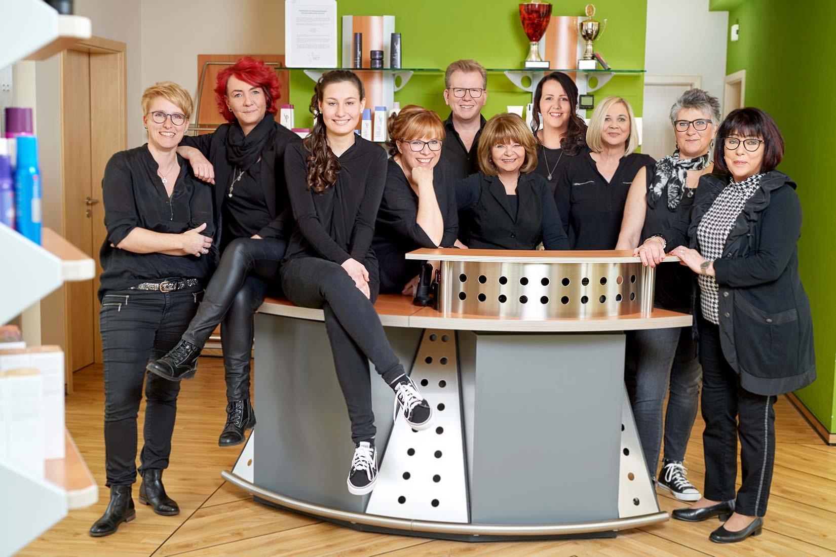 Teamfoto Friseursalon Klees in Meudt