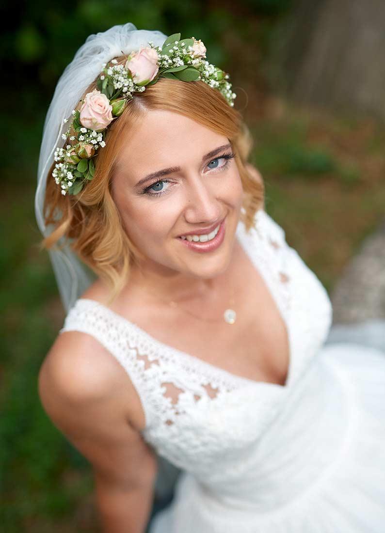Hochzeitsfotografie Braut in Breitenau