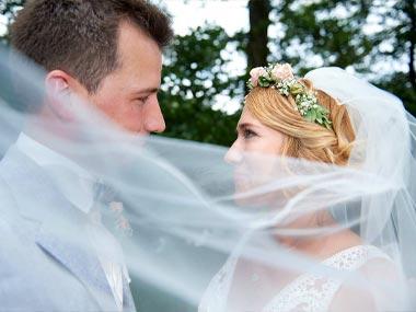 Hochzeitsfotografie Brautpaar in Breitenau
