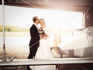 Hochzeitsfotografie am Flugplatz Dierdorf/Wienau