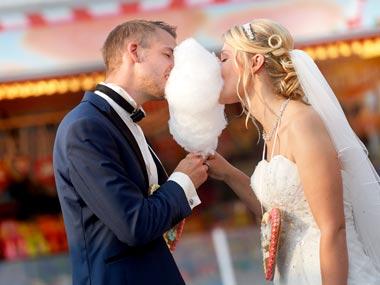Hochzeitsfotos auf Kirmes in Staud