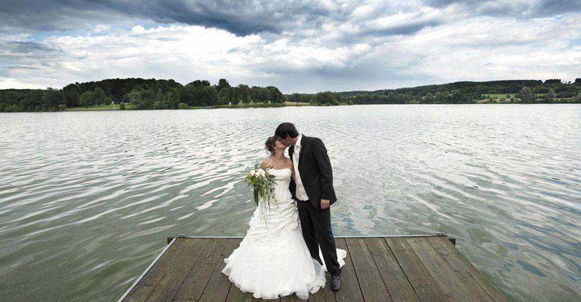 Hochzeitsfotografie am Wiesensee bei Westerburg