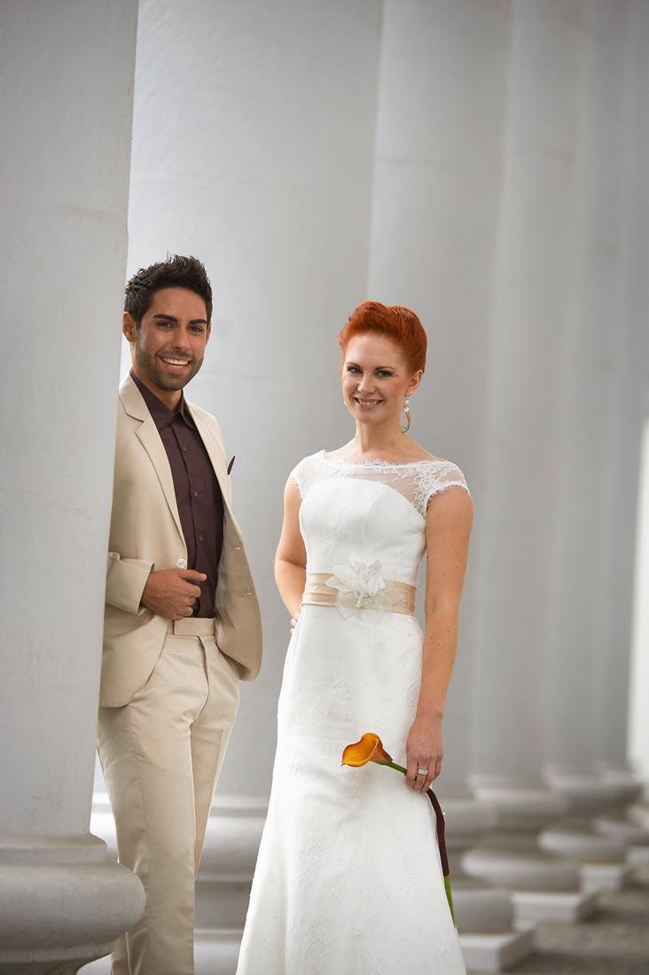 Hochzeitsfotos an Schloss in Koblenz