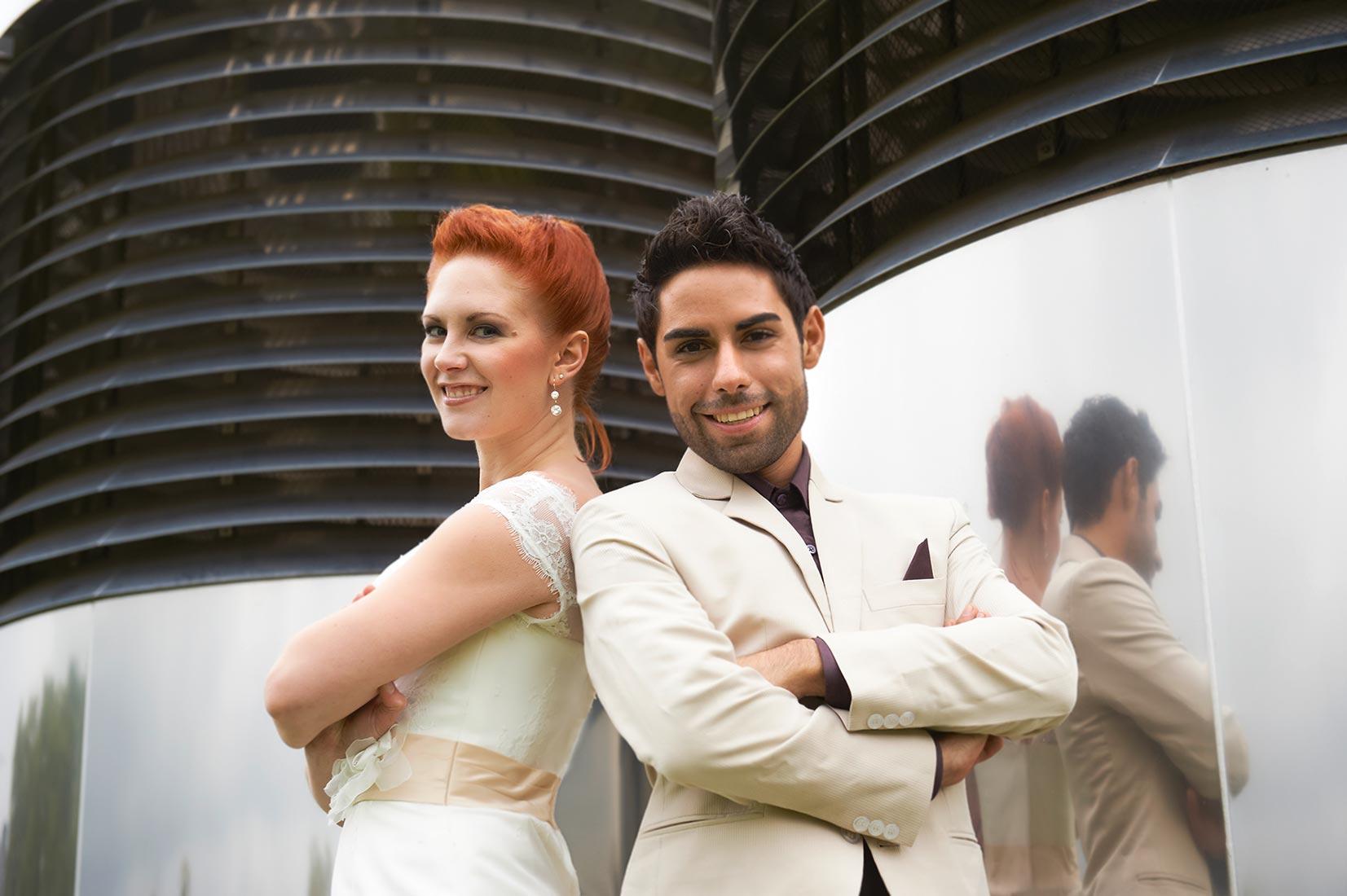 Brautpaar bei Hochzeitsfotos Koblenz