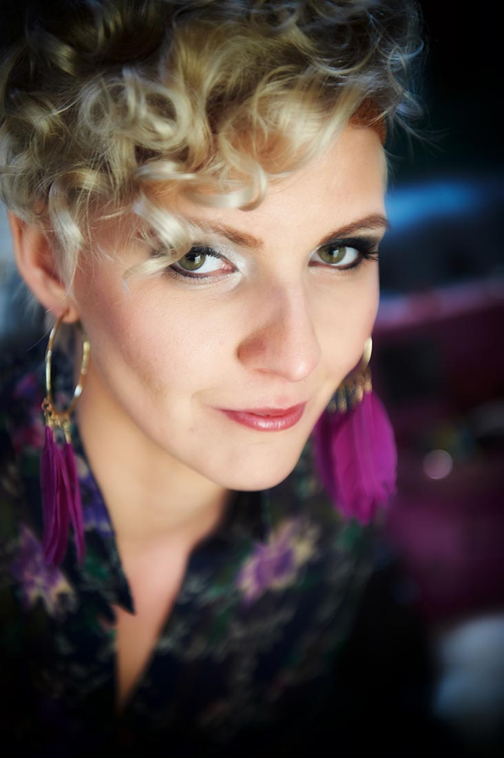 Portraitfotos – Beautyshot Anita, purpur