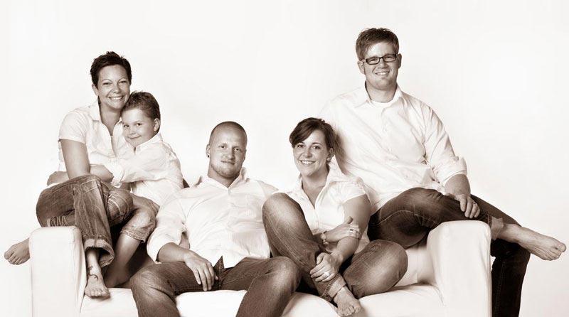 Portraitfotos Familien, Sepiatönung