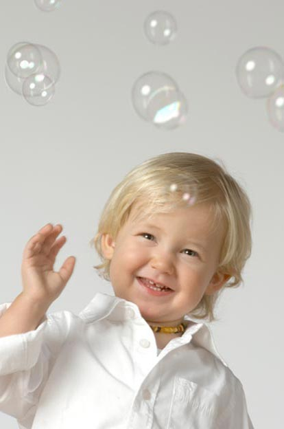 Portraitfotografie, Boy with Bubbles