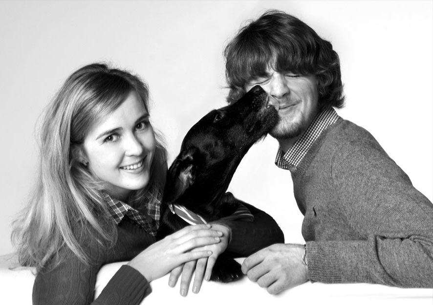 Portraitfotografie, Paar mit Hund